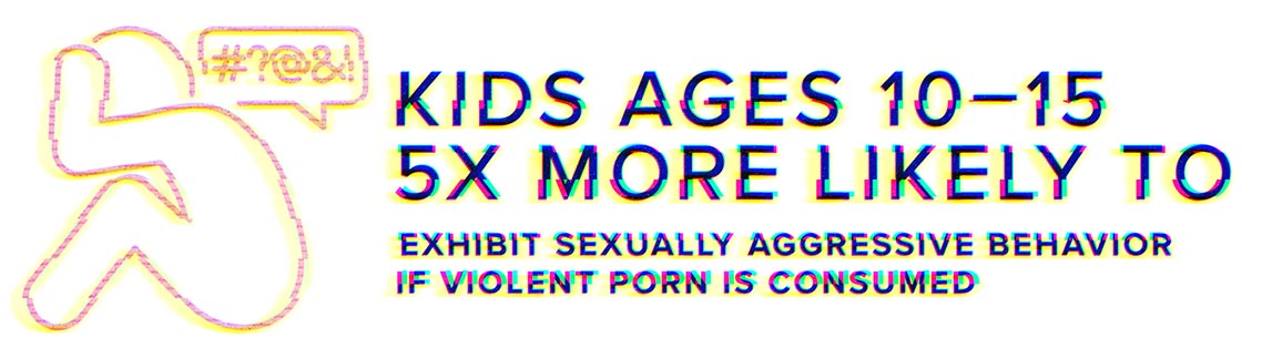 Kids ages 10-15 are over 5 times more likely to exhibit sexually aggressive behavior if violent porn is consumed.