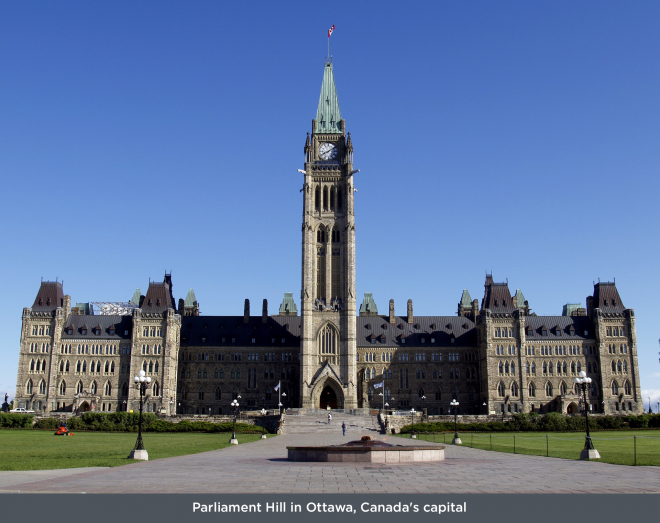 'Parliament-Hill-in-Ottawa,-Canada's-capital'